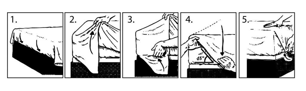 Cómo tender la cama: tercer paso